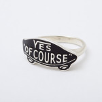 YES OF COURSE ring silver -black-