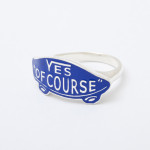 YES OF COURSE ring silver -blue-