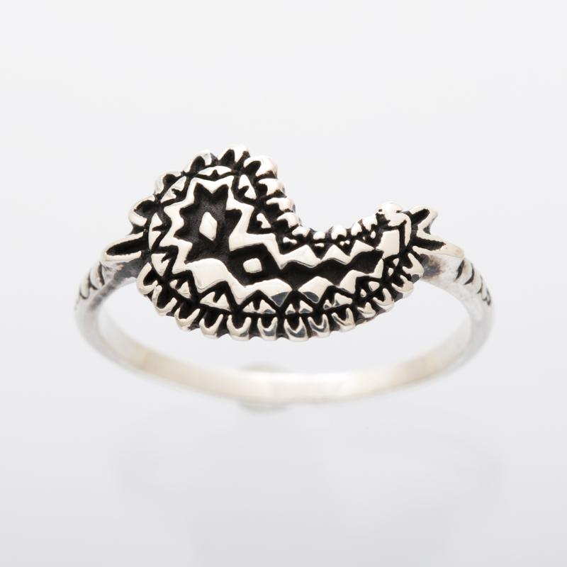 metal paisley ring silver