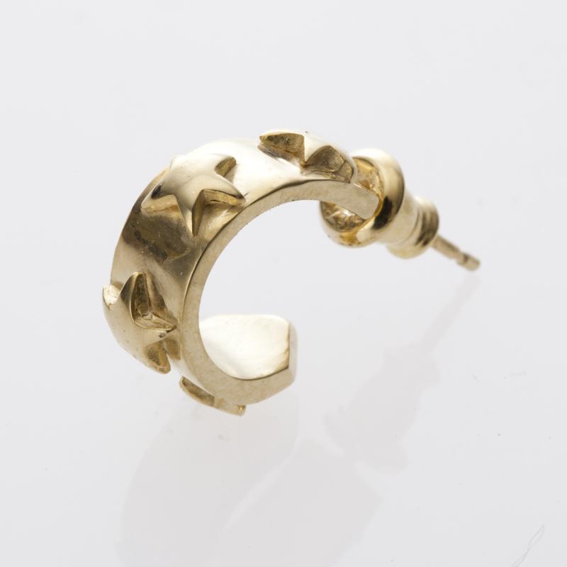 STAR STUDS pierced earring gold