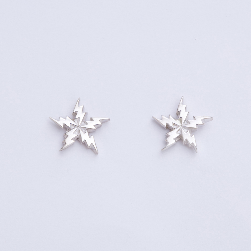 FLASH STAR pierced earrings SV