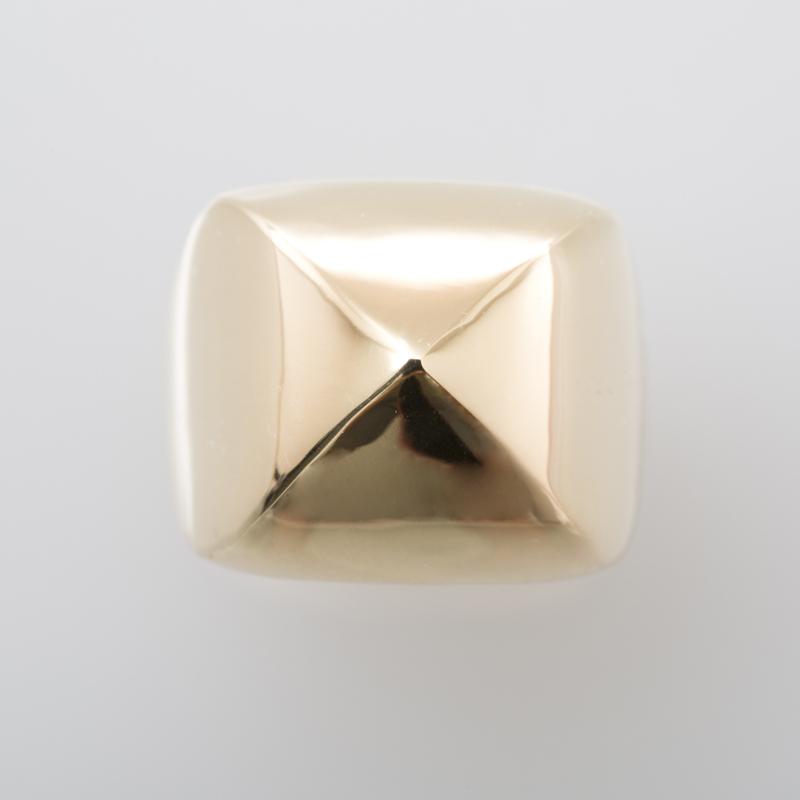 Marron Stud ring gold