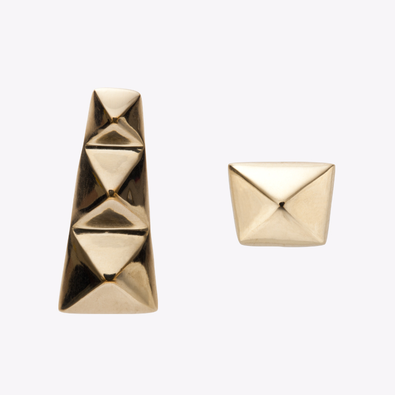 TAPER STUDS pierced earrings gold